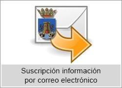 Suscripción información a través de correo electrónico