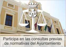 Participa en las consultas previas de normativas del Ayuntamiento de Chiclana