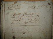Documento del archivo histórico municipal relativo a registro de pasaportes.