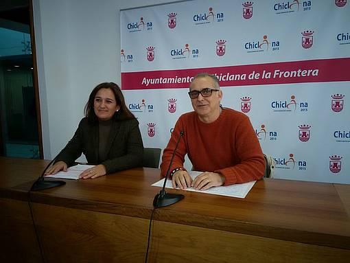 Ana González y Joaquín Páez, durante la rueda de prensa.