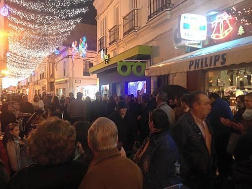 Una de las calles del centro de Chiclana