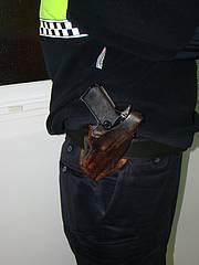 Pistola semiautomática marca Star, modelo PK-30 que fue el primer arma con la que se dotó a la Policía Local de Chiclana de la Frontera.