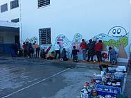 Alumnado 6º del CEIP Carmen Sedofeito realizando Mural