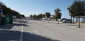 Una de las bolsas de aparcamiento de La Barrosa