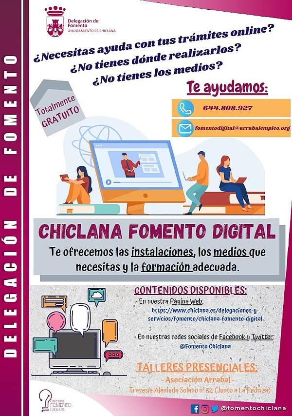 Cartel Chiclana Fomento  Digital