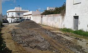 Una de las calles en las que se han realizado trabajos.