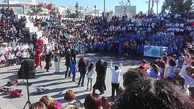 Momento del acto en el Anfiteatro de la Alameda.