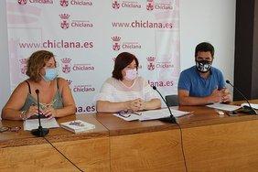 Rueda de prensa de Cándida Verdier, Esther Gómez y Roberto Palmero