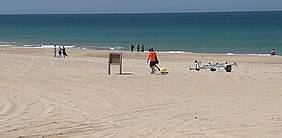 Momento de la playa en la jornada de apertura