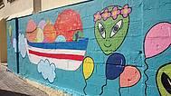 Detalle Mural 1 del IES Poeta García Gutiérrez