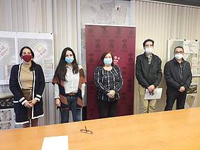 Cándida Verdier y Francisco José Salado firman convenio con AISE en Alacaldía
