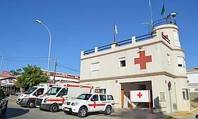 Puesto central de Cruz Roja