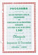 Programa de feria año 1949