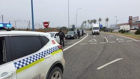 control policia local entrada de Chiclana