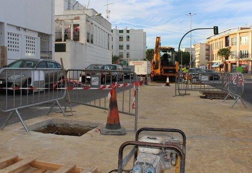 Ejecución de los trabajos en la Avenida de Diputación