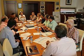 Reunión del alcalde con empresarios en Alcaldía