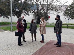 visita pabellón Ciudad de Chiclana  para organizar la vacunación por COVID-19