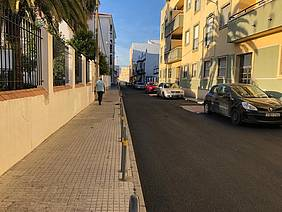 Una de las calles que se han asfaltado