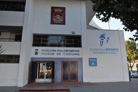 Fachada del pabellón Ciudad de Chiclana