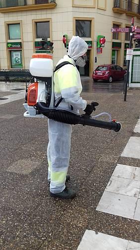 Uno de los trabajadores de limpieza.