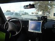 Cinemómetro instalado en vehículo camuflado
