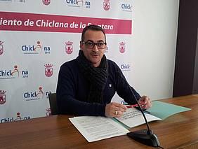 Momento de la rueda de prensa de Francisco José Salado.