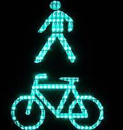 Imagen semáforo verde peatón y ciclista