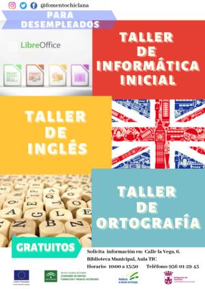 Cartel Informativo TALLERES GRATUITOS