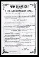 Programa de feria año 1874