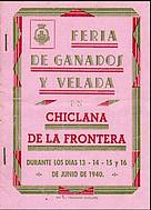 Programa de feria año 1940