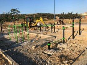 Ejecución de las obras del parque de calistenia