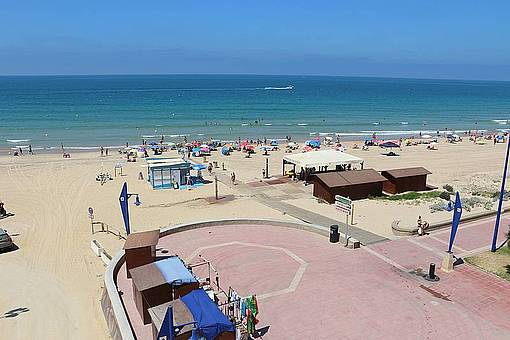 Segunda pista de la playa de La Barrosa