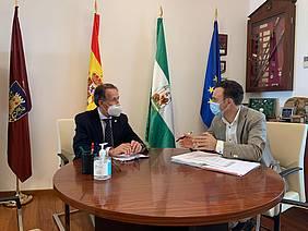 José María Román y David de la Encina en alcaldía