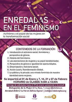 Cartel Enredadas en el Feminismo