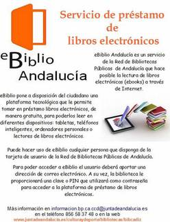 Ebiblio Andalucía para descargas de libros online