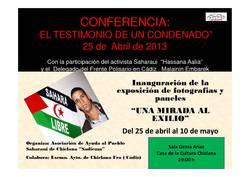"""Exposición """"Una Vida en el Exilio"""" y Conferencia""""Testimonio de un Condenado""""."""