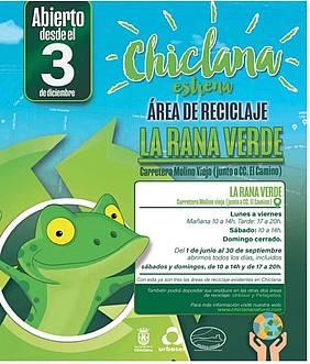 anuncio tercer punto limpio en Chiclana