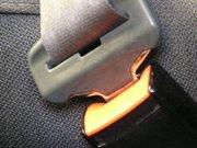 Fotografía de un cinturón de seguridad de automóvil