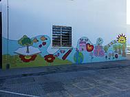 Primer Mural del Proyecto Arte & Salud en CEIP Carmen Sedofeito