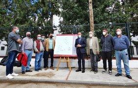 El alcalde y delegado de Medio Ambiente presentan el nuevo alumbrado público en la zona residencial de Chiclana