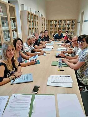 Reunión de planificación de la asignatura Educando en Justicia