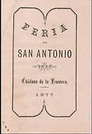 Programa de feria año 1877