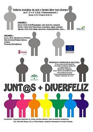 Cartel Junt@s+DiverFeliz